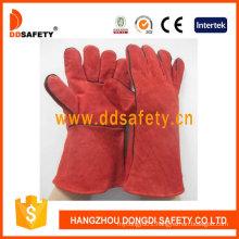 Red Cow Split Welder Gloves Dlw615