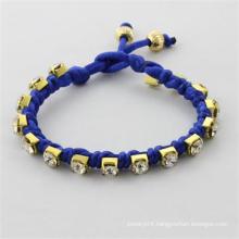 2014 fashion bracelet bangles golden beads with cotton rope bracelet women bracelet