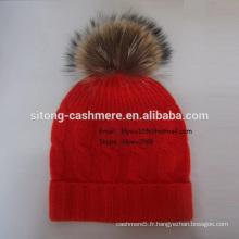 Casquette Fox Fur Cashmere