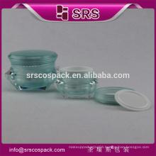 SRS free sample cosmetics cream empty jar , 1oz cosmetic acrylic cream jars manufacturers