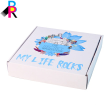 Подгонянный сложенный белый цвет высокое качество картонная коробка доставка