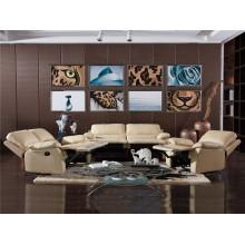 Диван гостиной с современным набором из натуральной кожи (743)