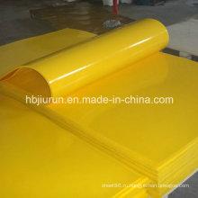Берег 90 желтый лист PU от изготовления Китая