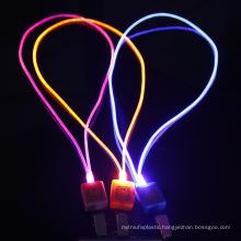 custom no minimum order pvu flashing led lanyard
