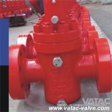 Fundición / forjado de acero 2000 psi ~ 20000 psi RF brida API 6A tapón de la válvula