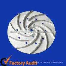 Roue marine de moulage de précision, processus de bâti de sable de roue, moulage de roue de pompe d'acier inoxydable