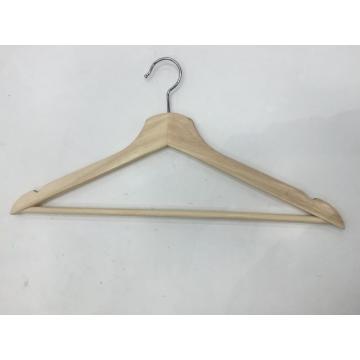 Percha madera superior de la camisa de la ropa de paño de buena calidad