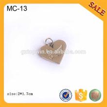 MC13 Пользовательские металлические шармы логотипа, антикварные серебряные 3D логотип ювелирных металлов тег логотипа