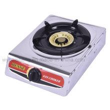 Fogão a gás único queimador com painel de aço inoxidável