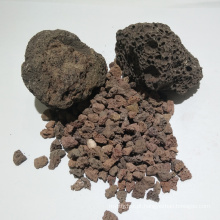 Mídia filtrante de rocha vulcânica para tratamento de esgoto doméstico