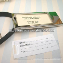 Outstanding luggage tag with insert