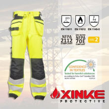 Safty equipment reflective FR pants with low formaldehyde