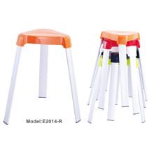Oficina colorida de empilhamento de metal Pintura cadeira de plástico (E2014-R)