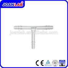 Tubos de conexão de vidro Glass JOAN LAB T com fornecedor de serrilhas