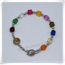 Catholic Rosary Bracelet, Religious Beads Wrap Bracelet (IO-CB185)