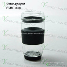 Mouth-Blown 300ml Double Wall Glass, Heat-Resistant High Borosilicate Glass for Drinking, Food-Grade Coffee Cup