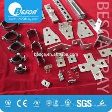 Encaixes de placa de canal plano de emenda de 2 ou 3 furos