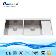 Science Lab Used Stainless Steel Handmade Kitchen Sink With Drain Board