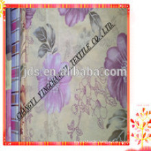 70gsm brushed 100% polyester bedsheet fabric with flora pigment printing for home textile/polyester fabric to Brazil