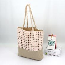 Custom Logo Biodegradable Cotton Linen Canvas Custom Shopping Bag Women Tote Bag