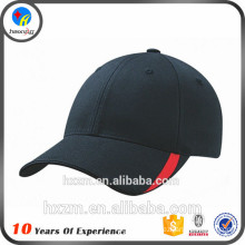 Low profile hat blank fitted black hat