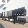 Container 3 eixos 40 pés semi-reboque rebaixado
