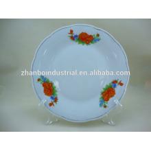 ceramic porcelain personalised cut-edge plate