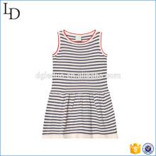 O material confortável e macio caçoa os vestidos do algodão do vestido ocasional para esportes