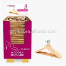 Рекламный естественный цвет плоская деревянная вешалка