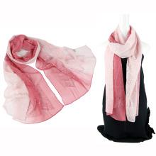 Dos emboidery de color de tono propio diseño bufanda de seda con lentejuelas
