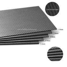 Heiße Verkäufe stellen kundenspezifische reine Kohlenstofffaser 3K Twill Matte volles Blatt / Platte für Hubschrauber her