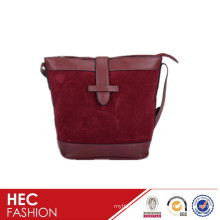 great quality suede leather pattern lady shoulder bag