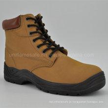 Sapatos de segurança de couro de corte médio de alta qualidade