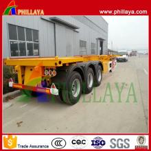 Reboque do caminhão do recipiente do leito dos Eixos do ISO 3-eixos 40FT do CCC semi reboque