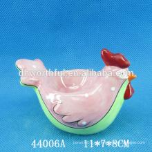 2016 de alta calidad pollo forma cerámica huevo titular
