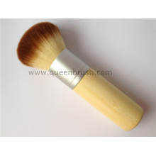 Bamboo Handle Excellent Design Kabuki Cosmetic Powder Brush
