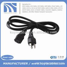Universal 3 Prong AC 200V US Câble standard pour ordinateur portable pour ordinateur portable