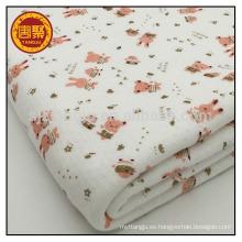 Hecho en China telas acolchadas impresas tela 100% de algodón para el bebé
