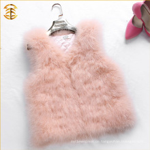 Neu angekommen 2016 Aktualisieren Baby Rosa Farbe Pelz Weste Kurz Stil Pelz Weste