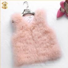 Nuevo llegado 2016 que actualiza el chaleco de la piel del estilo del cortocircuito del chaleco de la piel del color de rosa de bebé