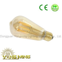 St64 Gold Cover LED Lighting Bulb, 8W E27 LED Bulb