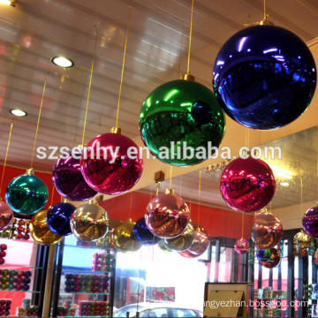 Top quality multicolor plastic large christmas ball