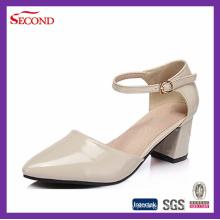 Senhora Pointed Toe PU Sapatos Lady Heel
