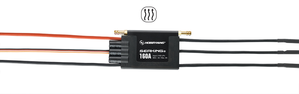Hobbywing Seaking Pro 120A 160A Waterproof Brushless ESC High Voltage Built-in BEC Wireless Programm for Boats SeaKing 120A Pro