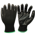 NMSAFETY cheap price for anti light water and punture work use 13 gauge nitrile industrial gloves