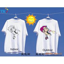 Pó / tinta fotossensível UV para t-shirt