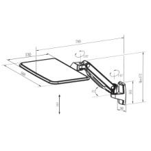 Wandhalterung Laptophalter mit verstellbarem Winkel (WLB771)