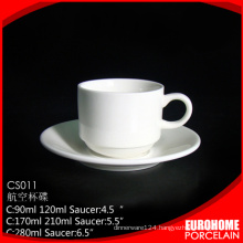 china supplier pure white airline hotel or restaurant porcelain coffee cup