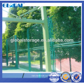 Cerca de malla de alambre de acero revestida del polvo verde de la seguridad para el sportsground