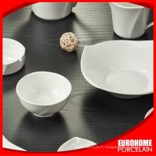 Guangzhou fabrique bol en porcelaine blanche stock costom